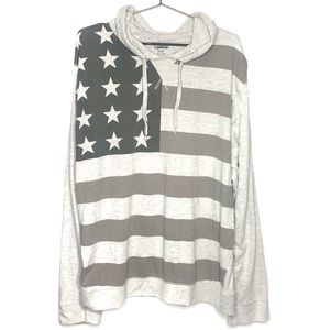 Rue21 Carbon American Flag Graphic Hoodie
